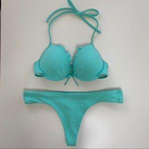 Victoria's Secret Turquoise Bikini Set